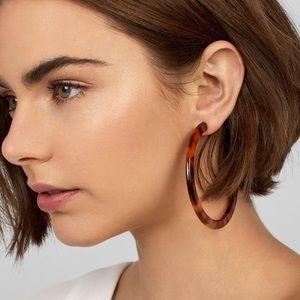 Baublebar Tortoiseshell Resin Hoop Earrings